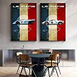 RZHSS Le Mans Carrera Panamericana Nürburg Ring Poster Auf Leinwanddruck Nordic Wall Art Bild Für Wohnzimmer Home Decor 50X70Cm 20X28 Zoll No Frame