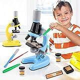 Mikroskop mit Zubehör-Kit, Studentenmikroskop, Mikroskop-Spielzeug, Mikroskop-Spielzeug-Set, Kindermikroskop-Set, Lehrmikroskop-Kit, Vergrößerungsmikroskop-Spielzeug