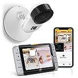 Kodak Cherish C520 WiFi-Babyphone mit Kamera für das Babybett, inklusive Monitorgerät zur unterbrechungsfreien Überwachung und Smartphone-App für einen schnellen Blick zwischendurch