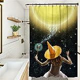SUUZQK Cartoon Parodie Halloween Duschvorhang Badezimmerdekoration Duschvorhang Badezimmer Verdunkelungsvorhang Duschvorhang Wasserdichter Duschvorhang 180x200cm(WxH) H