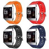 YPSNH Kompatibel für Fitbit Ionic Armband Weiche Silikon Lightweight Metall Schnalle Sport Uhrenarmband Ersatz Ionic Armband für Männer, F