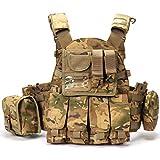 YSGJ Armee Weste Kampf Jagd militärische Taktische Weste Kampfweste mit Sturm Pouch Jungle Ausrüstung Outdoor Sport,Camouflage1