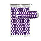 DO-MF Akupressur Massage Mat Kit für Rücken- und Nackenschmerzen Ischias, Schlaflosigkeit, Akupressur Akupunktur und Moxibustion Yoga (Schwarz Lila),White+Purple