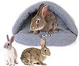 ToKinCen Katzenbett Schöne Tierbett, Klein Katzenbett Hundebett Haustierbett Plüsch Baumwolle Schlafen Bett Höhle Zubehör für Meerschweinchen Kaninchen Hamster Ratten Kleintierkäfig