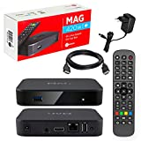 MAG 420w1 Original Infomir & HB-DIGITAL 4K IPTV Set TOP Box Multimedia Player Internet TV IP Receiver # 4K UHD 60FPS 2160p@60 FPS HDMI 2.0 HEVC H.256# ARM Cortex-A53# WLAN WiFi (802.11n) + HDMI Kab