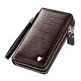 Suiyue Tech. Leder-Clutch-Tasche für Herren, für Reisen, Outdoor, Business, Organizer, Handgelenkriemen, Tasche, Münzgeld, Handtasche, Mehrzweck-Handy-Pack