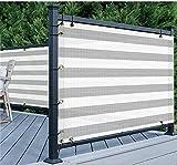 Datenschutz Garten Garten Dekorative Zäune Balkon Bildschirm 150 G/M² Polyethylen-Uv-Schutz Mit Hoher Dichte Visuelle Okklusion Hinterhof Geeignete Gartenzäune (Farbe: Grauweiß, Größe: 1,8 X 9 M)