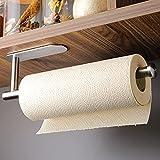 ZUNTO Küchenrollenhalter Ohne Bohren - Küchenpapierhalter unter Schrank Selbstklebend Papierrollenhalter, Edelstahl SUS 304