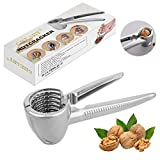 GHEART Nussknacker Walnüsse, Walnussknacker Haselnussknacker Nuts Cracker Tool, 4-1 Multifunktional Nußknacker, Silber