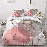 Bemal Marmor Bettbezug, 100% Polyester Weicher Bettbezug, langlebige Bettwäsche, Familienschlafzimmer Bettbezug (D,135 x 200 cm)