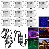 Bluetooth RGBWW Led Bodeneinbaustrahle Aussen 0.5W/1W Ø45mm IP67 Wasserdicht LED Einbaustrahler Terrasse Küche Garten Led Lampe 10er Full Kit