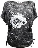 Emma & Giovanni - Sommer T-Shirt/Oberteile Kurzarm - Damen (# Schwarz, S)