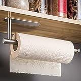 YIGII Küchenrollenhalter - Papierrollenhalter ohne Bohren Gebürstet Rollenhalter für Küchen Edelstahl