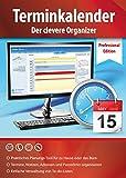Terminkalender Professional Edition - der clevere Organizer und Adressbuch für zu Hause und Büro - Terminplaner Software - Windows 10 / 8.1 / 8 / 7 / V