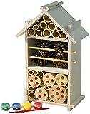 Luxus-Insektenhotels 22369FSC FSC-Holz Insektenhotel-Bausatz für Kinder zum Bauen und B
