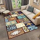 SunYe Nordische Abstrakte Wohnzimmer Dicke Doppelschicht Teppich Büro rutschfeste Fußmatten Schlafzimmer Bett Langlebige Fußmatten, Haustier Tepp