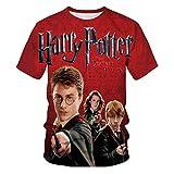 Harry Potter Herren T-Shirt Kurzarm Sommer Mode 3Dt-Shirt Sommer Anime T-Shirt Kurzarm O-Neck Top-EIN_S.