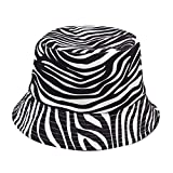 Fischerhut Unisex Fischerhüte Bucket Hat Zebra Druck Schlapphut Damen Herren Baumwolle Sonnenhut Faltbar Anglerhut Strandhut Zum Wandern Camping Reisen Angeln 56-58cm