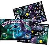 Stickeralbum mit 100 Sticker * Weltraum * als Geschenk oder zum Basteln | 72021 | Space Weltall Astronaut Kindersticker Aufkleber Stickerbuch für Kinder