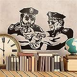 Wandtattoo Wohnzimmer Bud Spencer und Terence Hill Police für Wohnzimmer Schlafzimmer Jungen Schlafzimmer
