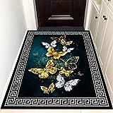 DJUX Hochflor Teppich wohnzimmerteppich Langflor - Teppiche für Wohnzimmer flauschig Shaggy Schlafzimmer Bettvorleger Outdoor Carpet,50x80cm