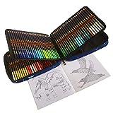 120 Buntstifte Set, weiche Kerne auf Wachsbasis, mischbare Farbstifte mit bruchsicheren Minen, zum Ausmalen & Schattieren, Künstlerbedarf für Erwachsene und Kinder