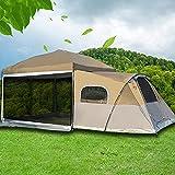 AMAZOM Verhindern Sie Mosquito Campingzelt 8-10 Personen Leichtes Familiengartenzelt Wasserdichtes UV-Beständiges Reisen, Zelt Mit Schlafzimmer, Wohnzimmer