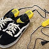 FGDSA Mini-versenkbarer Schuhtrockner, tragbarer Multifunktions-Schuhheizungswärmer, Einstellbarer Timer, Fußtrockner, doppelte Kernheizung, gelb