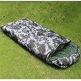 FACWAWF Bequemer Umschlag Schlafsack Tarnung Warme Baumwolle Schlafsack Outdoor-Reisegesellschaft Angeln Einzelschlafsack 2100x80cm(2000g)