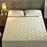 XGguo Matratzenschoner |Auflage zum Schutz der Matratze Verdickte dreidimensionale Bettdecke für Herbst- und Winterlabyrinth-Beige_135cm × 200cm
