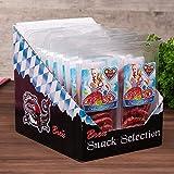 WURSTBARON® - Salami Mini Brezn - original Wurst Snack Brezeln aus Bayern - Karton mit 16 Packungen je 50 g
