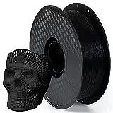 Filament 1.75 PLA Schwarz, AnKun Schwarz 3D Drucker Filament für 3D-Drucker und 3D-Stift, Dimensionale Genauigkeit +/- 0.02 mm, 1KG Spool