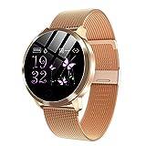XYZK Q8 Smart Watch OLED Farbbildschirm Damenmode Fitness Tracker Armband Smartwatch Bluetooth Touchscreen Armbanduhr Für Android Ios,B