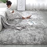 Teppiche Für Wohnzimmer, Fluffy Shaggy Super Weicher Teppich Geeignet Als Schlafzimmerteppich Home Decor Kinderzimmer Teppiche Kindermatte,Light Gray,200 * 300cm