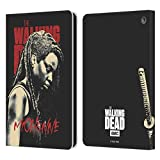 Head Case Designs Offiziell lizenzierte AMC The Walking Dead Michonne Staffel 10 Charakter Portraits Leder Book Wallet Case Cover kompatibel mit Fire HD 8 / Fire HD 8 Plus 2020