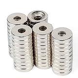 10 Stück !! 15 mm x3 mm Loch 3 mm, Neodymmagnet, Ringmagnet, Petling, Magnet mit Loch, Magnet mit Bohrung Magneten, Neodymium Magnets, starker Magnet, Kühlschrankmagnet, Geocaching
