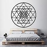 Wandaufkleber Heilige Geometrie Meditation Aufkleber, Spirituelles Mystisches Diagramm Dekoration Für Schlafzimmer Wandaufkleber andere Farbe 42x42cm