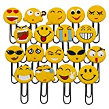 Nette Emoji Lesezeichen, lustige Paperclip Lesezeichen, Neuheit Emoticon Buch Marker für Kinder, Mädchen, Jungen, Schüler (Random 10PCS)