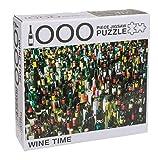 1000 Teile Puzzle, farbenfrohes Legespiel, Geschicklichkeitsspiel für die ganze Familie, Erwachsenenpuzzle ab 14 Jahren, ca. 68 x 48 cm (Wine Time)
