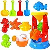 Sandspielzeug Set für Kinder, 11 Stück Strand Werkzeug Spielzeug Sand Set, Sandkasten-Eimer - Formen, Spaten, Harke, ummer Outdoor-Spielzeug Spielzeuglastwagen,Sandkasten-Spielzeug
