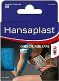 Hansaplast Kinesiologie Tape, wasserfestes Sporttape lindert Muskelschmerzen und fördert die Durchblutung, Tape bietet Unterstützung für Gelenke und Muskeln, 1 Rolle, Blau