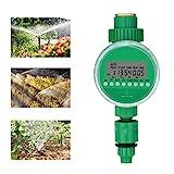 Bearbro Automatische Bewässerung Timer,Garten Zeitschaltuhr Bewässerung,Bewässerungssystem Controller,LCD wasserdichte,Batteriebetrieben,für GartenGewächshaus Landw