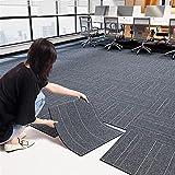 MMBBOD Teppichfliesen, Teppichboden Bodenbelag Fliese à 50x50cm, Strapazierfähiger Teppich Bodenbelag Antistatisch mit Bitumen Rücken (Color : Stripes, Size : 20pcs)