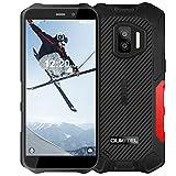 OUKITEL WP12 Pro(2021) Outdoor Smartphone Ohne Vertrag,Android 11 Outdoor Handy (237Gramm),4GB+64GB,Dual SIM 4G,IP68 IP69K Wasserdichter,4000mAh,13MP Dreifachkamera,5,5' Triple Kamera Face ID/NFC(Rot)