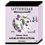 Littorelle - 5 Maske ohne Shaker - Creme mit Maulbeere und Traubenextrakten - Detox und Anti-Aging, erhellt und vereinheitlicht den Teint - Gesunder Leuchteffekt