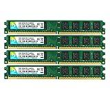 DUOMEIQI 8GB Kit (4 X 2GB) 2RX8 DDR2 800MHz DIMM PC2-6300 PC2-6400 CL6 1.8v 240 Pin 6400U Non-ECC Unbuffered Desktop Arbeitssp