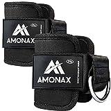 Amonax fußschlaufe kabelzug (1 Stück), fußmanschetten kabelzug für Fitness fußgewicht und fußmanschetten Gewicht Training am kabelzug, fussschlaufen Fitness, kabelzug fußschlaufe