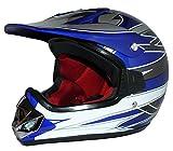 Protectwear Kindercrosshelm, Kindermotorradhelm MaX Racing, Blau Glanz, XXS (Youth M)