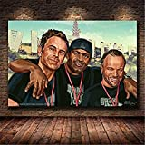 Refosian Game Poster Grand Theft Auto V GTA 5 Leinwand Kunstdruck Malerei Raumdekoration Heimdekoration Wanddekoration 50X70Cm -Y2172