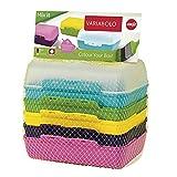 Emsa Clipboxen 3er-Set Variabolo 509388   6 Halbschalen für 3 Dosen   Beliebig zusammensetzbar   Spülmaschinengeeignet   Besonders für Kinder geeignet